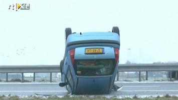 RTL Nieuws Groot deel van Nederland glad door ijzel