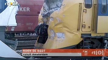 RTL Nieuws Gewonden frontale treinbotsing Amsterdam