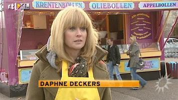 RTL Boulevard Daphne oliebollenkraam voor Unicef
