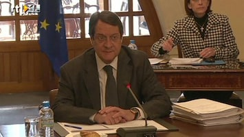RTL Nieuws Premier Cyprus zoekt steun voor reddingsplan