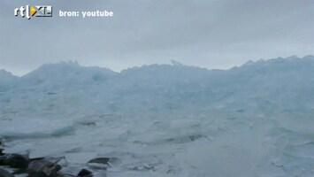 RTL Nieuws Kruiend ijs op IJsselmeer