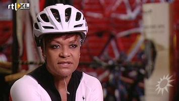 RTL Boulevard Ruth Jacott over wielrennen voor goede doel en de outfit..