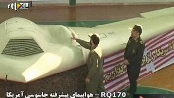 RTL Nieuws TV Iran toont onderschepte drone