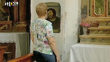 RTL Nieuws Amateur-restaurateur verpest fresco in Spaanse kerk