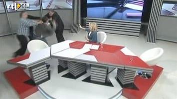 RTL Nieuws Discussie wordt knokpartij in Georgische studio