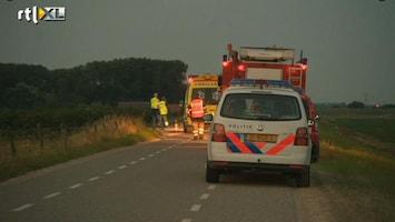 RTL Nieuws Vrouw overlijdt na aanrijding motor
