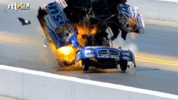 RTL Nieuws Raceauto ontploft op circuit