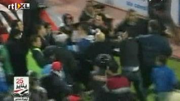 RTL Nieuws Eerste beelden voetbalrellen Egypte