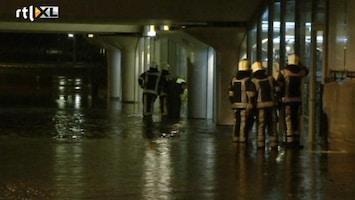RTL Nieuws Flink wat wateroverlast in zuiden