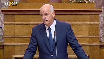 RTL Nieuws Grieks parlement stemt over Papandreou