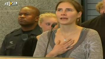 RTL Boulevard Amanda Knox zet voet op Amerikaanse bodem