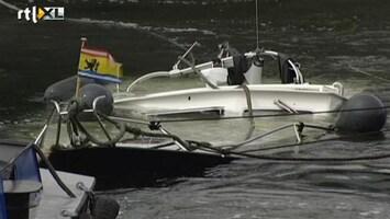 RTL Nieuws Beelden berging gezonken motorboot Zeeland