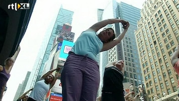 RTL Nieuws Yogales op drukste plek New York