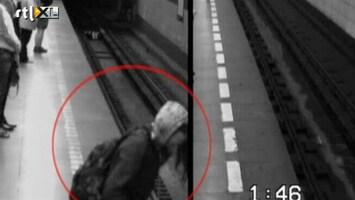 RTL Nieuws Zonder kleerscheuren na val onder metro
