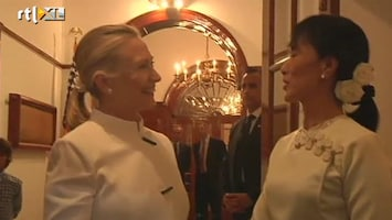 RTL Nieuws Ontmoeting Clinton en Aung San Suu Kyi