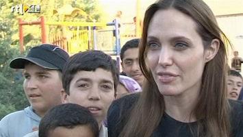 RTL Nieuws Angelina Jolie bij Syrische vluchtelingen