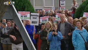 RTL Nieuws Protest tegen tunnel onder Nieuwe Waterweg