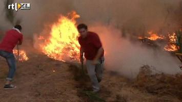 RTL Nieuws Moeizame strijd tegen het vuur in Portugal