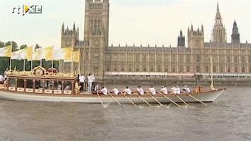 RTL Nieuws Olympische vlam vaart Londen binnen