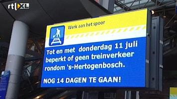 RTL Nieuws Geen trein maar ook geen chaos in Den Bosch