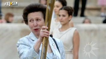 RTL Boulevard Olympisch vuur in handen van prinses Anne