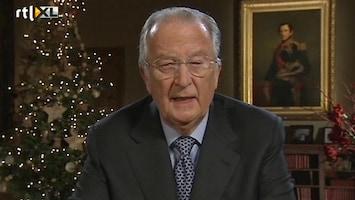RTL Nieuws Kersttoespraak Koning Albert valt slecht bij Belgen