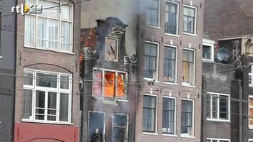 RTL Nieuws Dode bij brand in historisch pand in Amsterdam