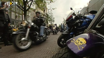 RTL Nieuws Hells Angels demonstreren in Amsterdam