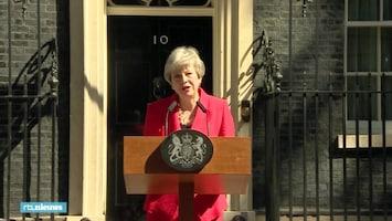 Theresa May geëmotioneerd bij afscheidsspeech: 'Ik ben heel dankbaar'