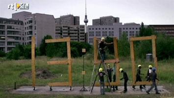 RTL Nieuws Bouwvakkers houden letterlijk de tijd bij