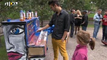 RTL Nieuws Vandalen besmeuren kunstproject met piano's