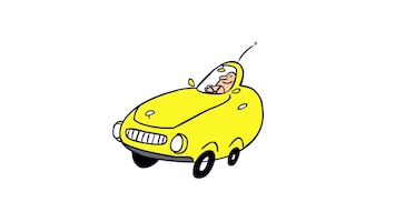 Doodle Yellow car