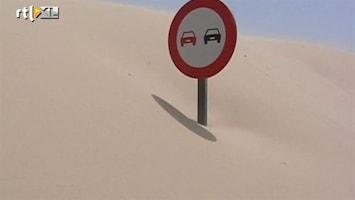 RTL Nieuws Zandduin slokt weg in Zuid-Spanje op