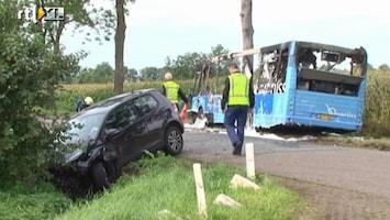 RTL Nieuws Scholieren gewond bij busongeluk Rouveen
