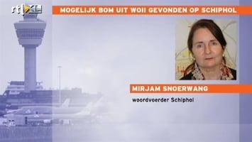 RTL Nieuws Schiphol deels gesloten na vondst vliegtuigbom