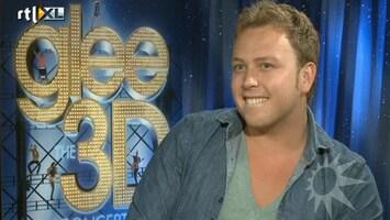 RTL Boulevard Jamai naar Amerika voor interview cast Glee