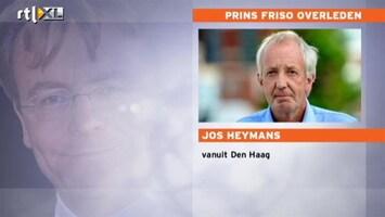 RTL Nieuws Jos Heymans: overlijden prins toch nog onverwacht