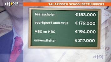 RTL Nieuws Topsalarissen onderwijs aan banden