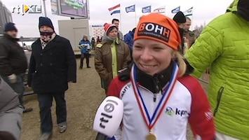 RTL Nieuws Yvonne Spigt winnares NK op natuurijs