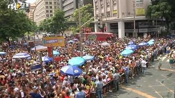 RTL Nieuws Uit de kluiten gewassen buurtfeest in Rio