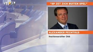 RTL Nieuws Pechtold: 'SP zet zich buitenspel'