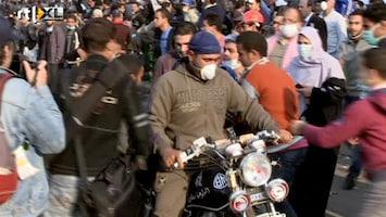 RTL Nieuws 'Weg met militairen' op het Tahrirplein