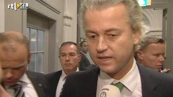 RTL Nieuws Wilders: ik zwartepiet niet mee