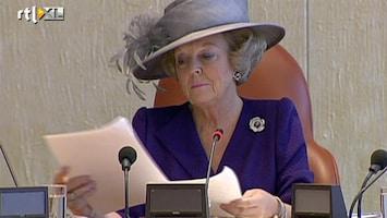 RTL Nieuws Beatrix blijft in regering
