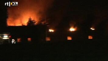 RTL Nieuws Honderden varkens dood door brand Deurne