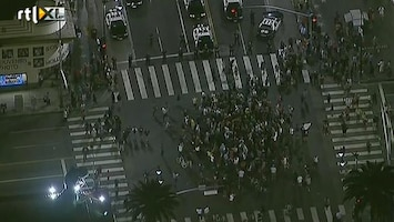 RTL Nieuws Demonstranten blokkeren wegen Los Angeles