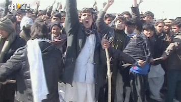 RTL Nieuws Felle betogingen in Kunduz