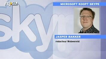 RTL Z Nieuws Jasper Bakker (Webwereld): overname Skype verandert internet-wereld
