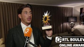 RTL Boulevard Online Awards: Niek wint Meest Spraakmakende Gast