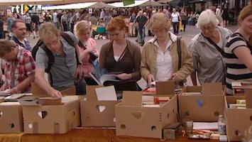 RTL Nieuws 6 kilometer boekenmarkt in Deventer